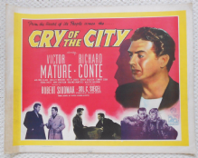 Cry of the City, Original HS Poster, Classic Siodmak Noir, Victor Mature, '48